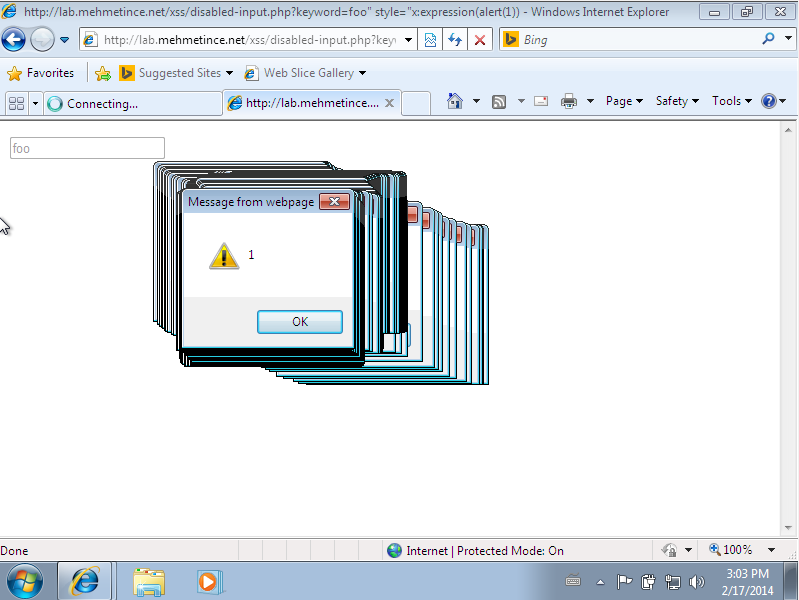 Disabled XSS IE 9
