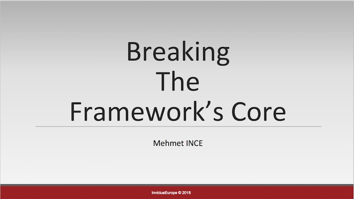 PHPKonf '16 – Breaking Framework's Core Sunumu